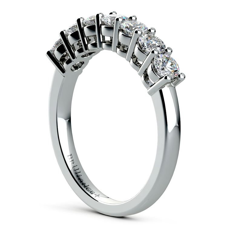 Seven Diamond Wedding Ring in White Gold (3/4 ctw) | 04