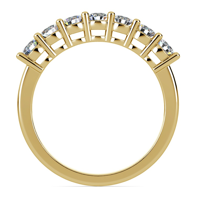 Seven Diamond Wedding Ring in Yellow Gold (3/4 ctw) | 03