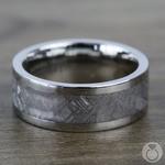 The Aldrin - Cobalt Chrome Flat Mens Meteorite Ring | Thumbnail 04