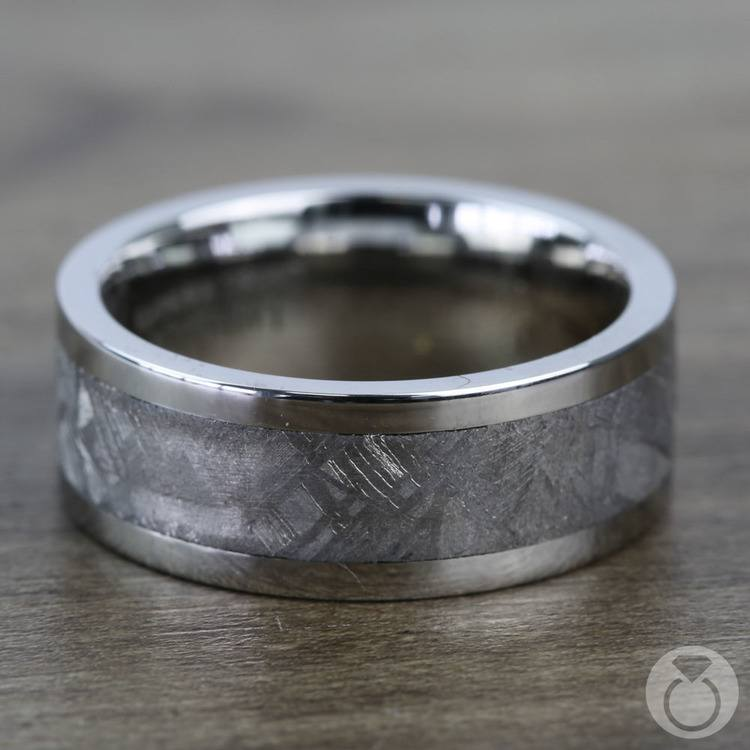 The Aldrin - Cobalt Chrome Flat Mens Meteorite Ring | 04