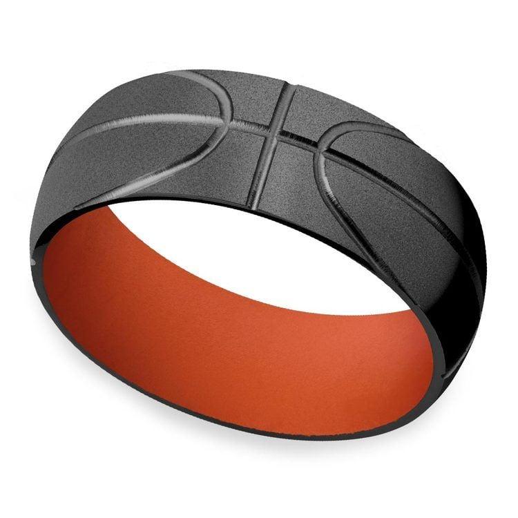 All Star - Mens Basketball Wedding Band   01