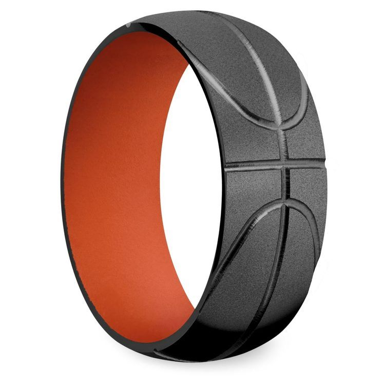 All Star - Mens Basketball Wedding Band   02