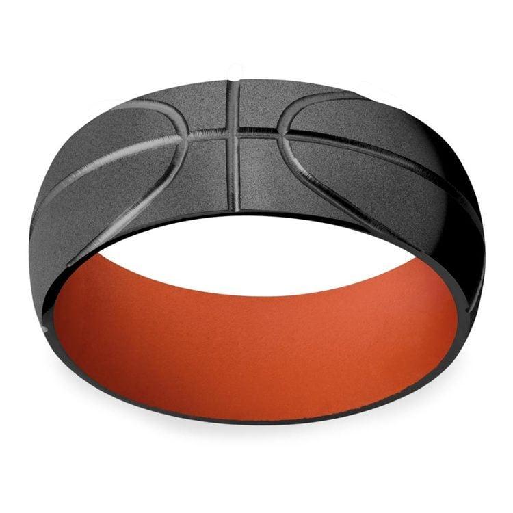 All Star - Mens Basketball Wedding Band   03