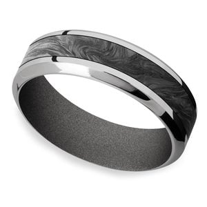 The Haze - Forged Carbon Fiber Titanium Men's Band