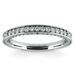 Antique Floral Diamond Wedding Ring in Platinum | Thumbnail 02
