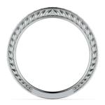 Antique Floral Diamond Wedding Ring in Platinum | Thumbnail 03