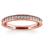 Antique Floral Diamond Wedding Ring in Rose Gold | Thumbnail 02