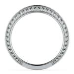 Antique Floral Diamond Wedding Ring in White Gold | Thumbnail 03
