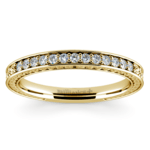 Antique Floral Diamond Wedding Ring in Yellow Gold | Thumbnail 02