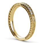 Antique Floral Diamond Wedding Ring in Yellow Gold | Thumbnail 04