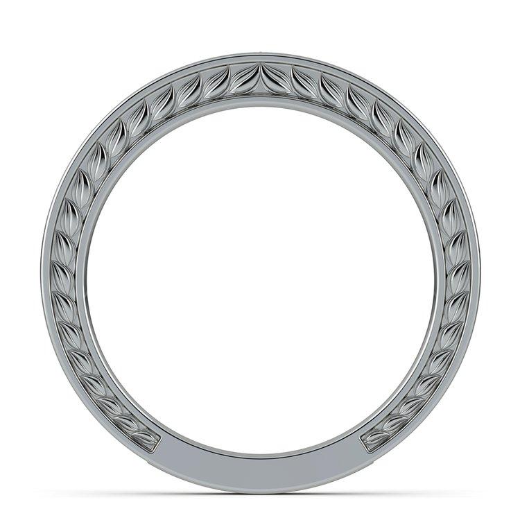 Antique Floral Wedding Ring in Platinum | 03