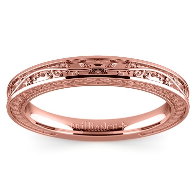 Antique Floral Wedding Ring in Rose Gold | 02