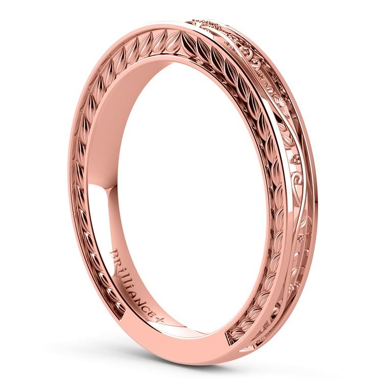 Antique Floral Wedding Ring in Rose Gold | 04