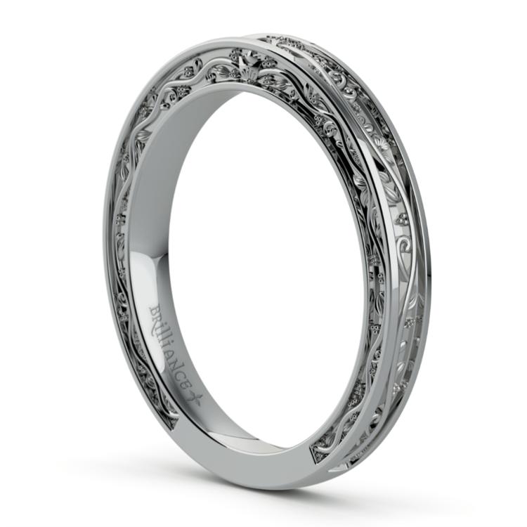 Antique Wedding Ring in Platinum | 04