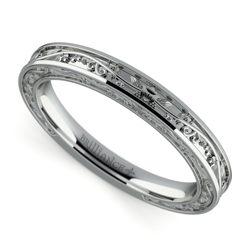 Antique Wedding Ring In White Gold