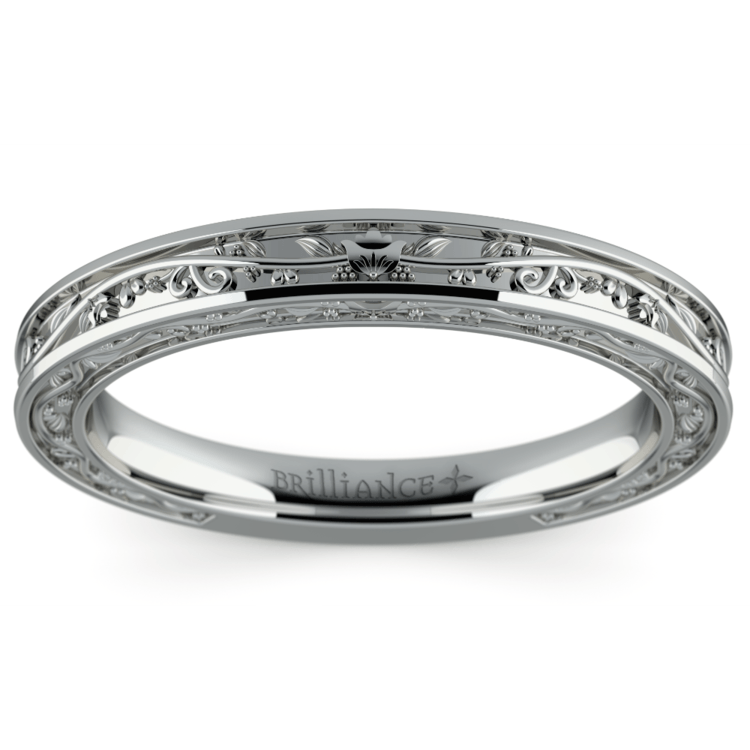 Antique Wedding Ring in White Gold | 02