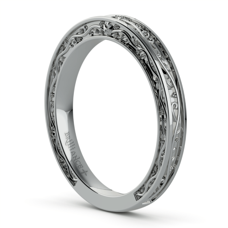 Antique Wedding Ring in White Gold | 04