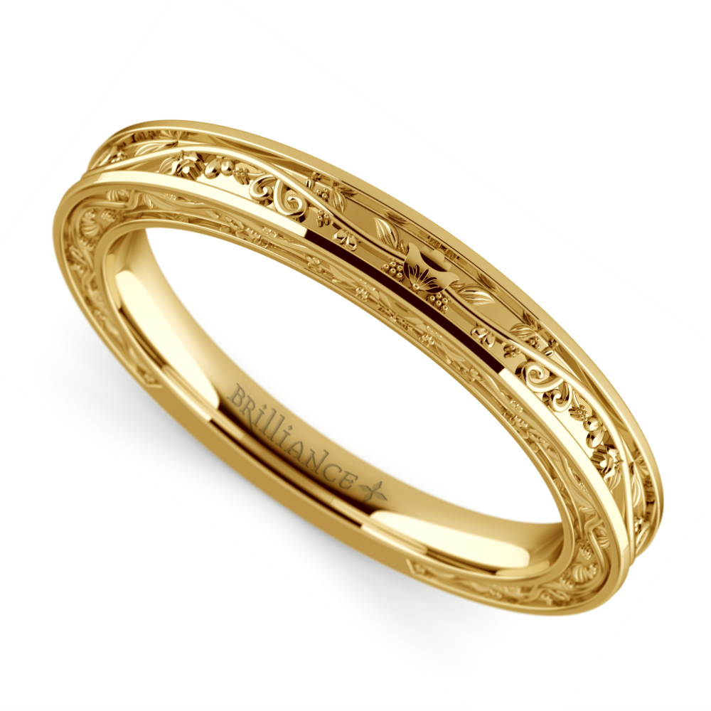 Antique Wedding Bands: Antique Wedding Ring In Yellow Gold