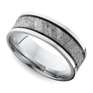 Incredible Mens Meteorite Wedding Rings