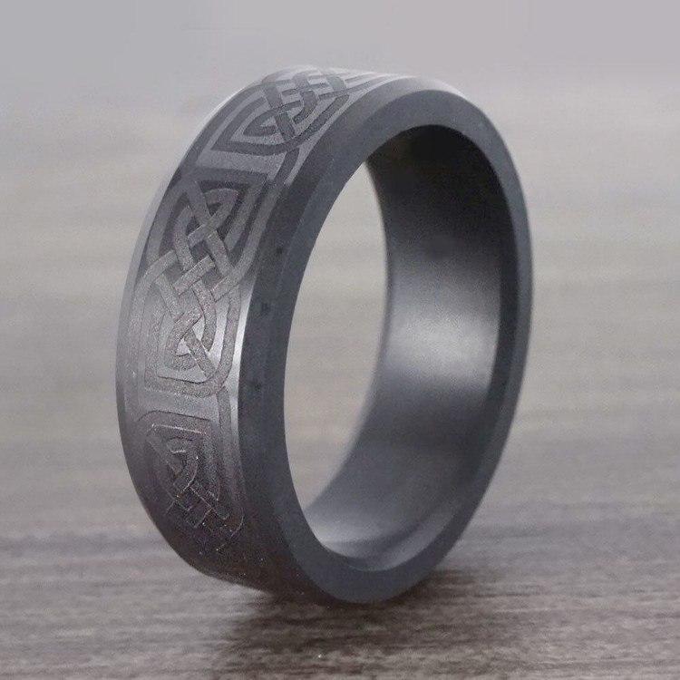 Ares - Celtic Design Mens Elysium Wedding Band | 06