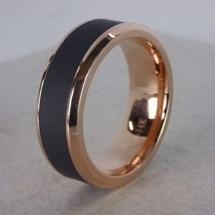 Ares - Elysium Wedding Band in Rose Gold | 04