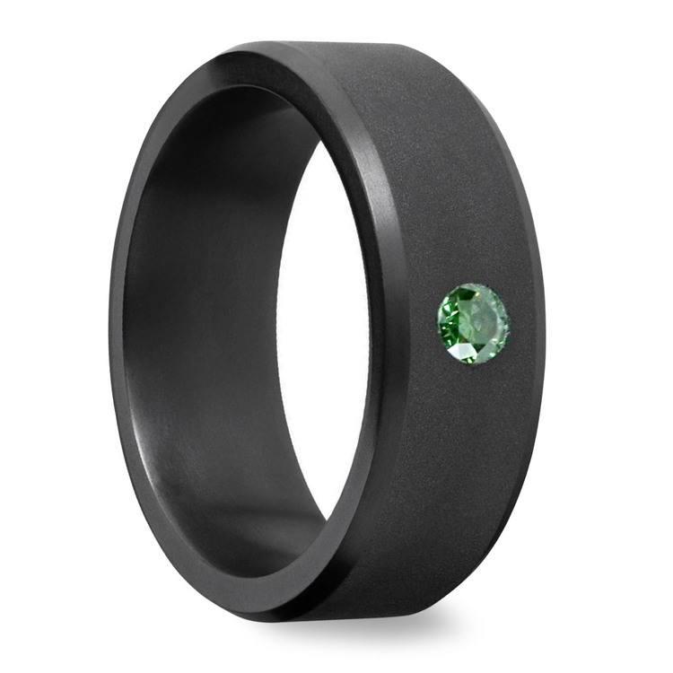 Ares - Green Diamond Inset Matte Elysium Band   02