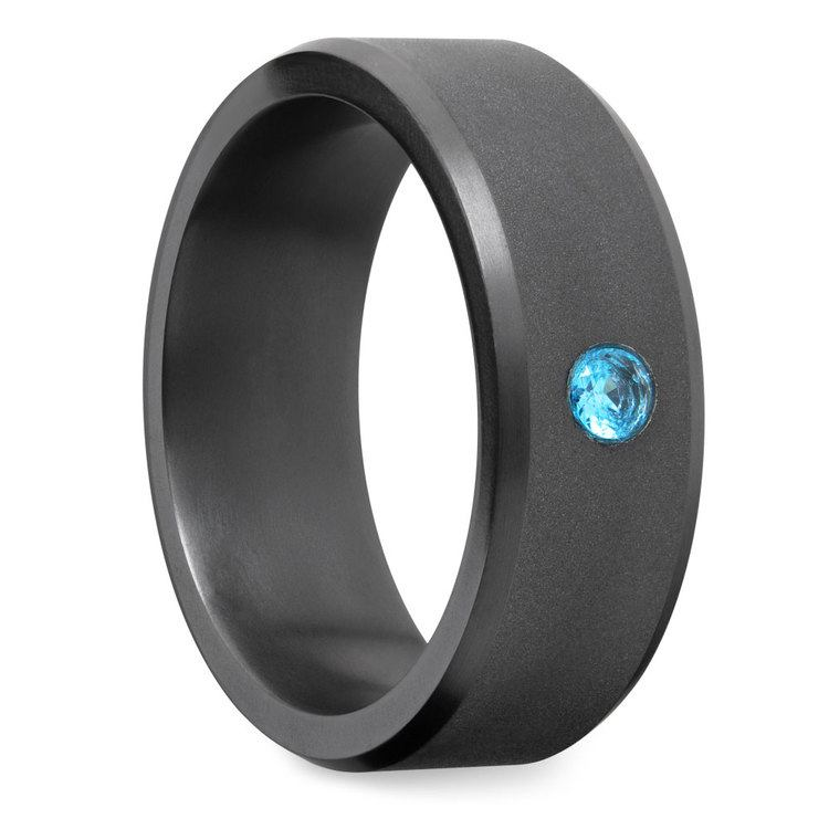 Ares - Matte Elysium Inset Blue Diamond Band | 02
