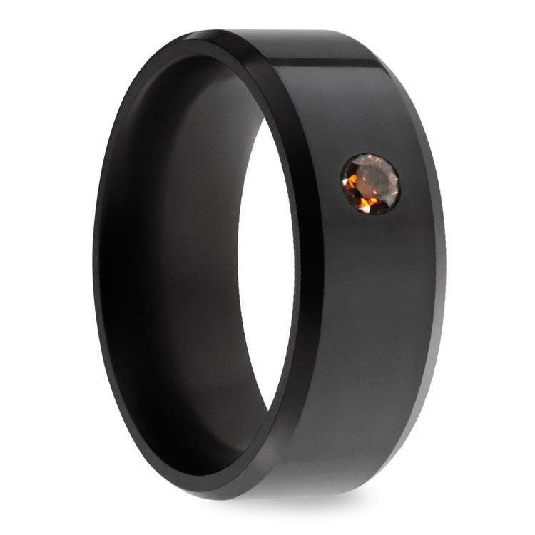 Ares - Orange Diamond Inset Polish Elysium Ring | 02