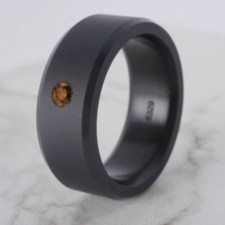 Ares - Orange Diamond Inset Polish Elysium Ring | 06