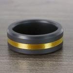 Ares - Gold Inlay Matte Men's Elysium Ring | Thumbnail 07