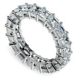 Asscher Diamond Eternity Ring in Platinum (5 1/2 ctw) | Thumbnail 01