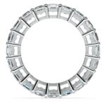 Asscher Diamond Eternity Ring in Platinum (5 1/2 ctw) | Thumbnail 03