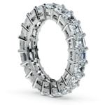 Asscher Diamond Eternity Ring in Platinum (5 1/2 ctw) | Thumbnail 04