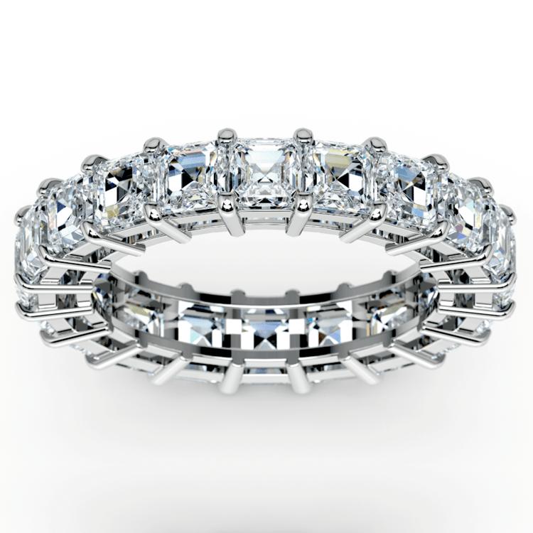 Asscher Diamond Eternity Ring in Platinum (5 1/2 ctw) | 02