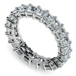Asscher Diamond Eternity Ring in Platinum (3 3/4 ctw) | Thumbnail 01