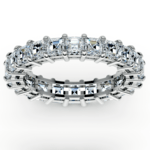 Asscher Diamond Eternity Ring in Platinum (3 3/4 ctw) | Thumbnail 02