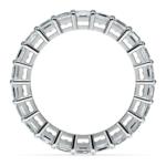 Asscher Diamond Eternity Ring in Platinum (3 3/4 ctw) | Thumbnail 03