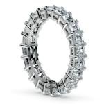 Asscher Diamond Eternity Ring in Platinum (3 3/4 ctw) | Thumbnail 04