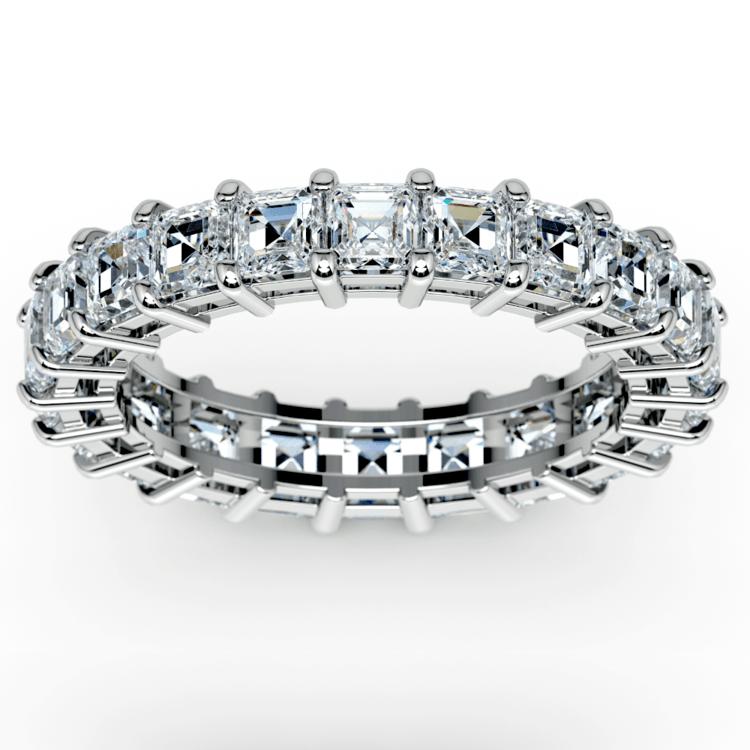 Asscher Diamond Eternity Ring in Platinum (3 3/4 ctw) | 02
