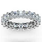 Asscher Diamond Eternity Ring in White Gold (5 1/2 ctw) | Thumbnail 02