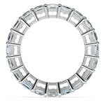 Asscher Diamond Eternity Ring in White Gold (5 1/2 ctw) | Thumbnail 03