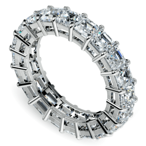 Asscher Diamond Eternity Ring in White Gold (5 1/2 ctw)
