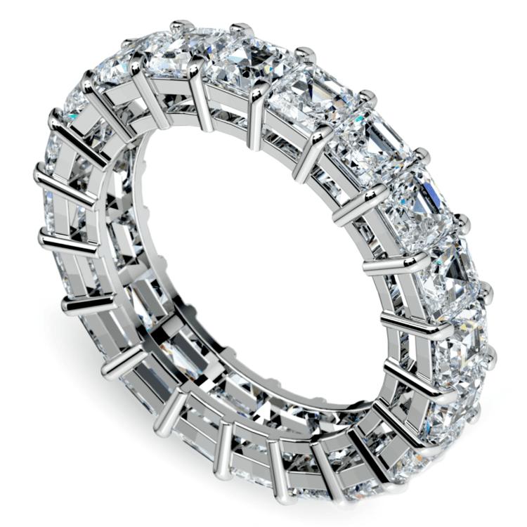 Asscher Diamond Eternity Ring in White Gold (5 1/2 ctw) | 01