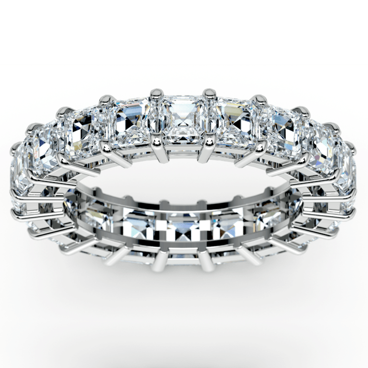 Asscher Diamond Eternity Ring in White Gold (5 1/2 ctw) | 02