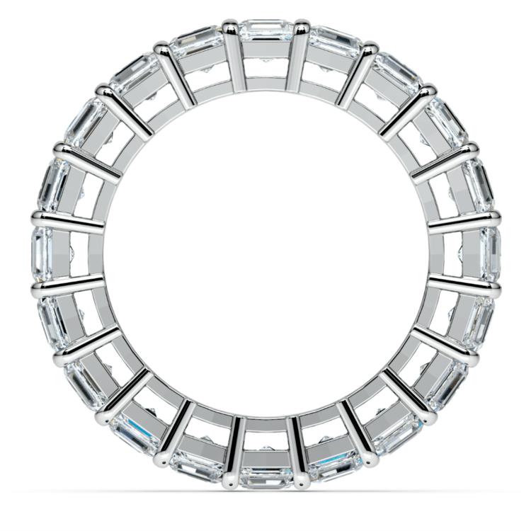 Asscher Diamond Eternity Ring in White Gold (5 1/2 ctw) | 03