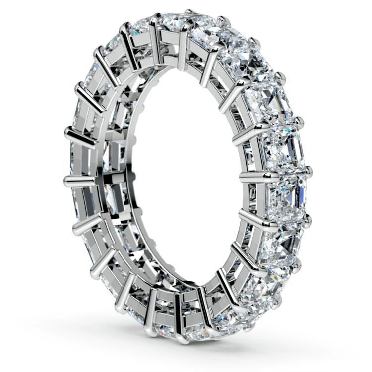 Asscher Diamond Eternity Ring in White Gold (5 1/2 ctw) | 04