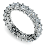 Asscher Diamond Eternity Ring in White Gold (3 3/4 ctw) | Thumbnail 01