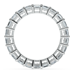 Asscher Diamond Eternity Ring in White Gold (3 3/4 ctw) | Thumbnail 03