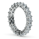 Asscher Diamond Eternity Ring in White Gold (3 3/4 ctw) | Thumbnail 04