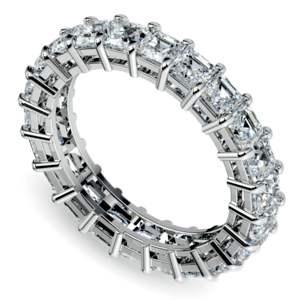 Asscher Diamond Eternity Ring in White Gold (3 3/4 ctw)